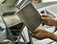 How to change cabin air filter diy napa filters for Chevy express cabin air filter location